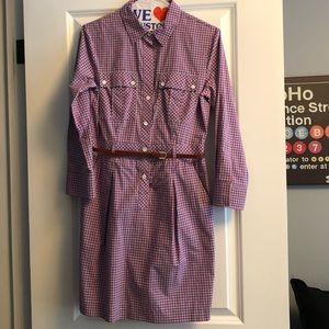 Theory belted shirt dress sz 2